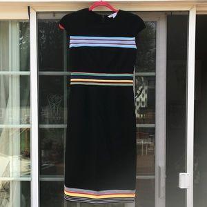 Diane Von Furstenberg Hadlie Striped Ponte Dress 4